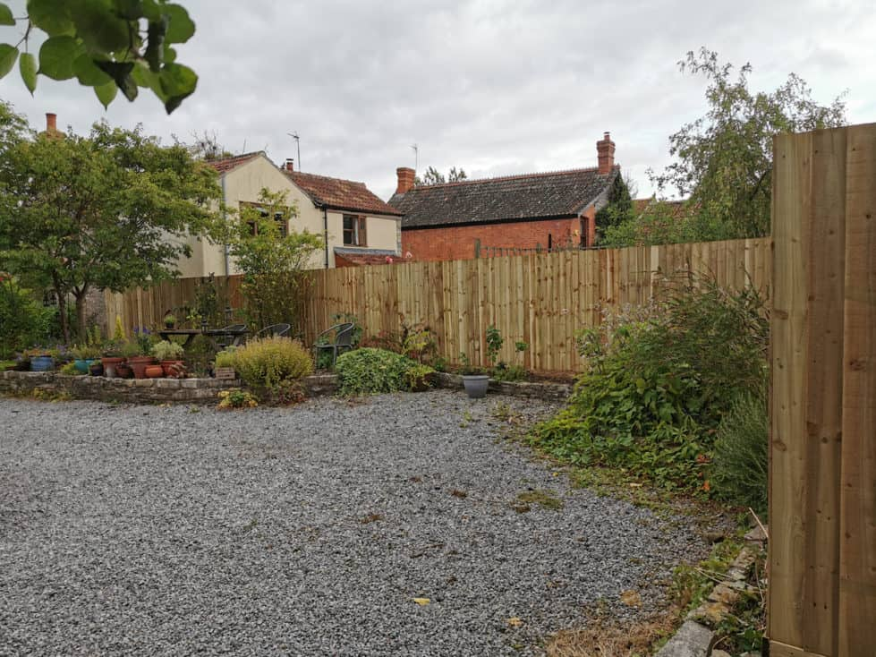 Featheredge Fence in North Wootton, Somerset